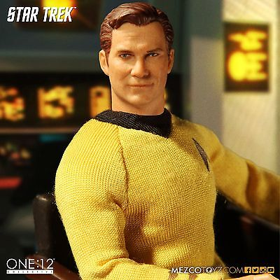 Star Trek Mezco Toyz TOS Captain Kirk One:12 Scale Action Figure New in Stock
