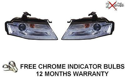 Audi A4 B8 2008-11 Chrome Light Bar Led Drl Daylight Running Lights Headlights