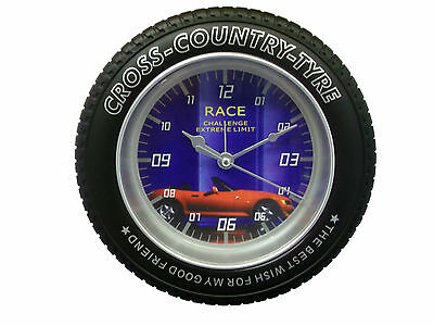 Tire Picture Glass Wall Clock Great Styles Standing Or Hanging Great Present