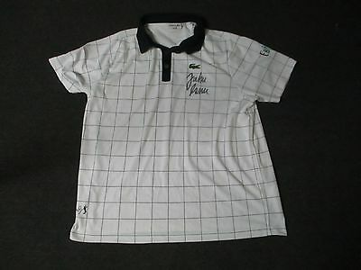 2012 US Open Men's Third Round John Isner Match Used Worn Lacoste Signed Shirt