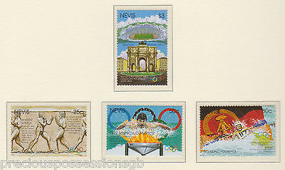 Mnh Olympic Games Stamp Set 1972 Munich Olympics Nevis