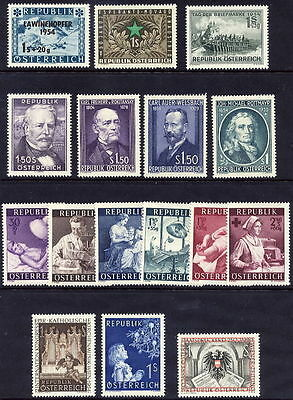 AUSTRIA 1954 Complete issues MNH / **
