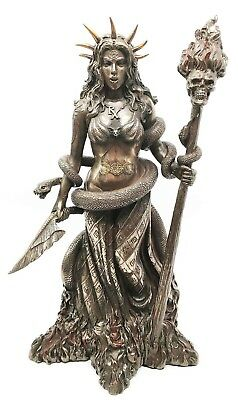 """10.5"""" Height Greek Goddess Sorceress Witchcraft Hecate Figurine Hekate Witch"""