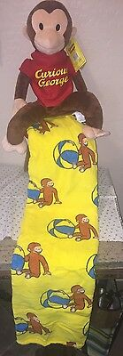 *NEW*ZOOBIES Plush Curious George 3 in 1 Pal Pillow Pack Cozy Blanket *NWT*
