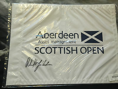 The Scottish Open Golf Flag 2013 Signed By Winner Phil Mickelson with COA