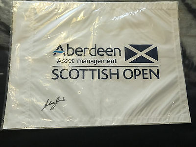 Scottish Open Flag 2016 Signed By Winner Alex Noren Golf with COA