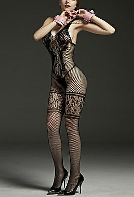 Women's New Black Sexy Lingerie Underwear Open Crotch Bodystocking 10-14
