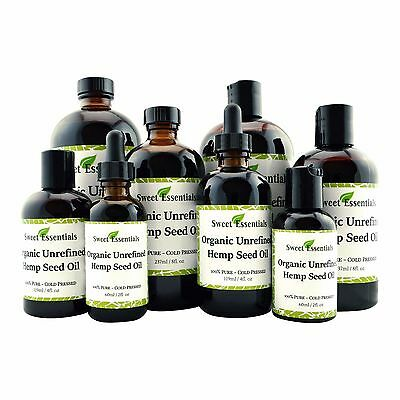 Organic Unrefined Hemp Seed Oil | Imported From Canada | 100% Pure | 2oz to 16oz
