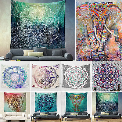 Mandala Tapestry Indian Wall Hanging Bohemian Hippie Bedspread Throw Mat Decor