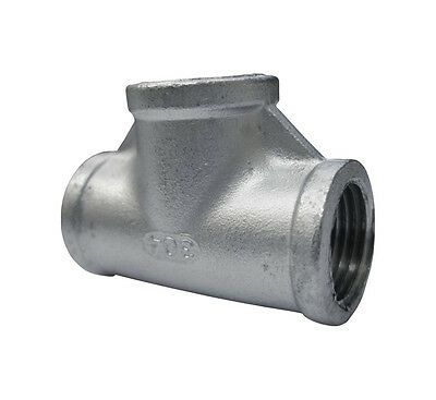 """Stainless Steel 304 Cast Pipe Fitting Tee, Class 150, 1/2"""" NPT Female"""