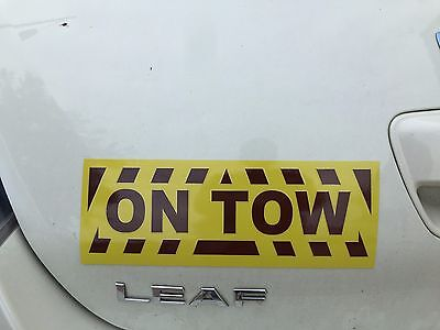 Reflective On Tow Magnetic Sign Chevrons Towing Hitch Dolly Motorhome Trailer