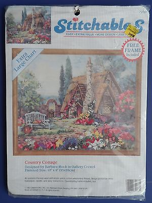 Dimensions Stitchables COUNTRY COTTAGE Crewel Embroidery Kit #72137 ~ SEALED