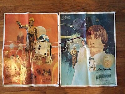 1977 STAR WARS Posters R2-D2 Coke Burger King Skywaker C-3PO Anthony Daniels