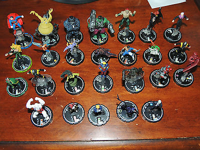 Heroclix Lot of 26 Figures DC Assorted 2002-2005 Silver Ring Rare Unique