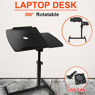 Adjustable New Laptop Desk Stand Computer PC iPad Bedside Table USB Fan AU Stock