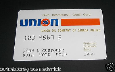 Vintage Union 76 Gold Gas Credit Card Sample Only VGC RARE SHIP FREE