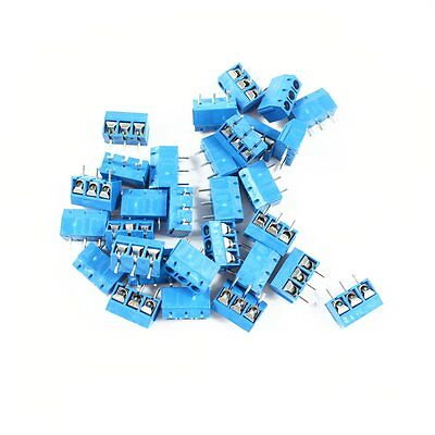 50pcs KF-301-3P 5.08mm pitch 3 Pin  Screw Terminal Connector KF301 Blue