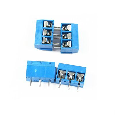 5PCS KF-301-3P 5 08MM pitch 3 Pin Blue Screw Terminal Connector KF301