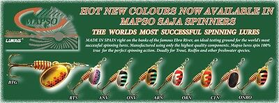 Mapso Saja Trout Spinner Twin Pack Trout Lure Spinner Celta Style New