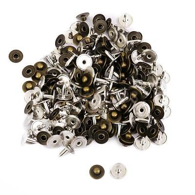 100 Sets Antique Metal Press Studs Buttons Snap Fastener Bronze Sewing Craft