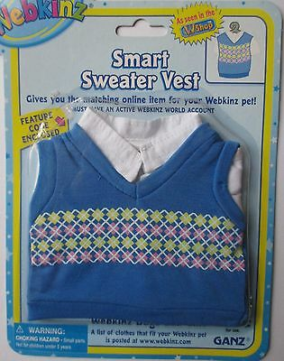 x Smart Sweater Vest fits most WEBKINZ cat dog pet CLOTHING new with code
