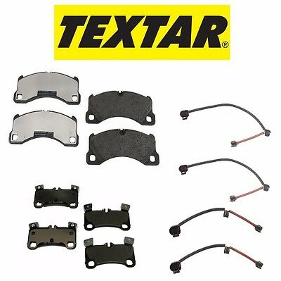 Textar Front /& Rear Brake Pad Set+Sensors For Cayenne Silver Caliper or Black