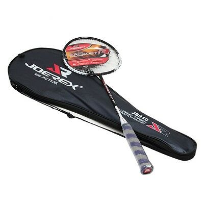 JOEREX 1X High Quality Aluminum-Carbon Badminton Racket with Full Cover Bag