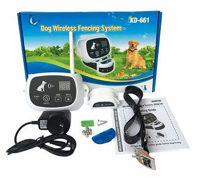 Dog Pet Electric Wireless WIFI Fence Containment System Fencing Waterproof 1 Dog