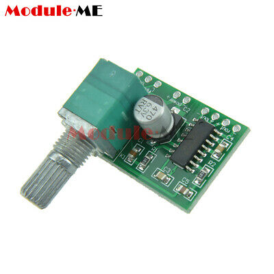 2PCS PAM8403 5V 2 Channel USB Power Audio Amplifier Board 3Wx2W Volume UK