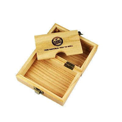 Raw Wooden Box Compartment Fancy  Smoking Cigarette Cone Tobacco Rolling Kit