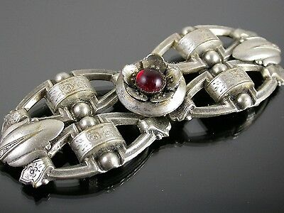 Antique Silver Metal & Paste Buckle C.1900