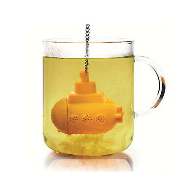 Submarine Tea Infuser Yellow Silicone Tea Filter Diffuser
