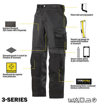 Snickers Trousers 3312 3-Series Work Trousers Snickers Direct Black