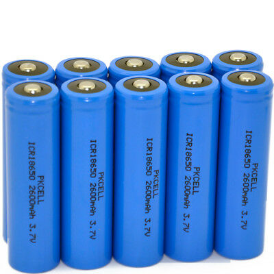 4/8/12/20/24/36pcs 18650 2600mAh 3.7V Li-ion Rechargeable Battery For LED Torch