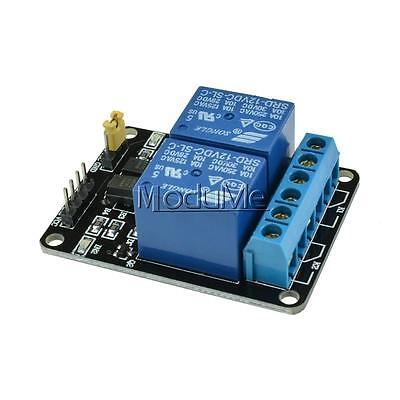 12V Two 2 Channel Relay Module With optocoupler For PIC AVR DSP ARM Arduino MO