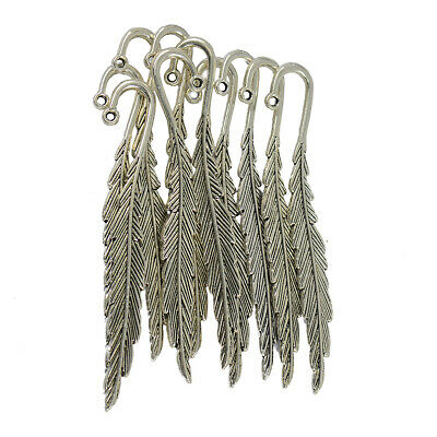 10pcs Tibetan Silver Feather Bookmarks For Beading Findings