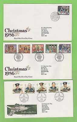 GB 1986 Collection of eleven First Day Covers with Special Cancels