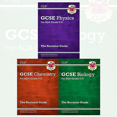 New Grade 9-1 GCSE Physics,Chemistry,Biology 3 Books Collection Set NEW BRAND UK