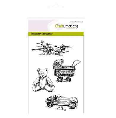 CraftEmotions clearstamps A6 - Vintage Spielzeug Lovely Baby 011245