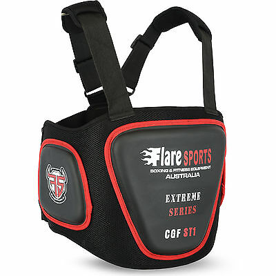 Flare Chest Body Protector Guard MMA Armour Muay Thai Boxing Training Belly