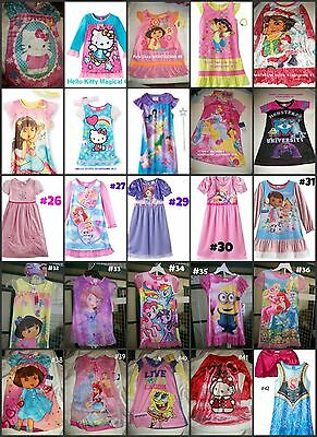 * NEW GIRLS HELLO KITTY DISNEY Princess NIGHTGOWN PAJAMAS 2T 3T 4T 6
