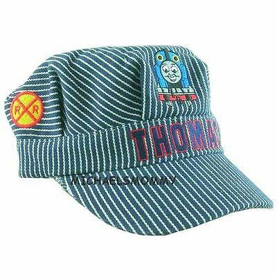 Thomas The Tank & Friends-Conductor Train Engineer Striped Cap Hat **new/htf**