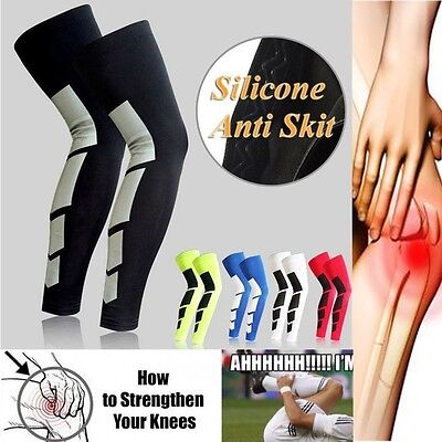 Sports Leg Guard Calf Support Kneepad Stretch Sleeve Compression Socks Running 1