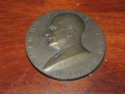 Vintage 1953 Dwight Eisenhower Bronze Inauguration Medal High Relief