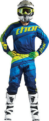 Completo Cross Thor Pulse Velow S7 Offroad Navy/lime