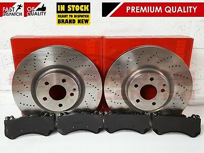 For Mercedes W204 C63 Amg Front Drilled Brake Discs Pads Premium Quality Brakes
