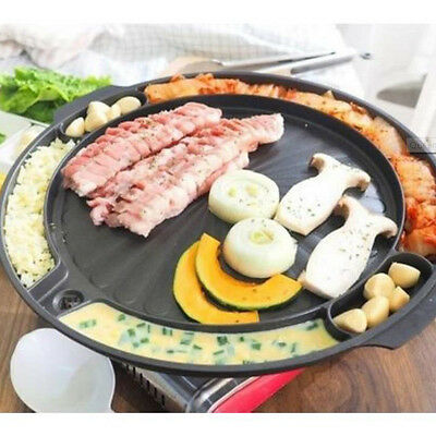 Queen Sense Korean Samgyeopsal BBQ  Non-Stick All powerful Stovetop Grill Pan