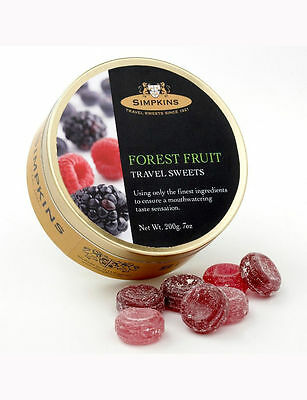 Simpkins Traditional Travel Sweets Tin - Forest Fruit Drops 200g