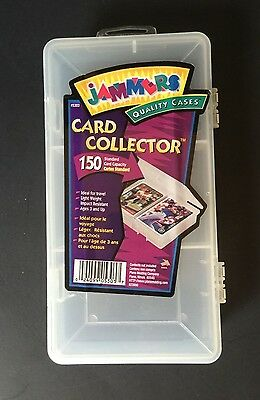 JAMMERS Plastic Snap-Shut CARD COLLECTOR CASE Holds 150 Standard Trading Cards