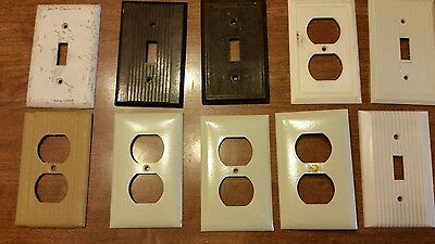 Vintage BAKELITE outlet and switch covers Mixed Lot